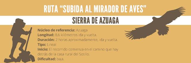 Ruta - Subida al Mirador de Aves - Sierra de Azuaga